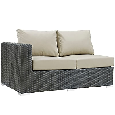 Modway Sojourn Outdoor Patio Left-Arm Loveseat (EEI-1858-CHC-BEI)
