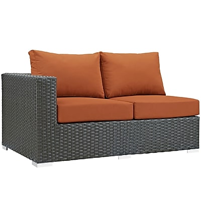Modway Sojourn Outdoor Patio Left-Arm Loveseat (EEI-1858-CHC-TUS)
