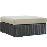 Modway Sojourn Outdoor Patio Square Ottoman (EEI-1861-CHC-BEI)