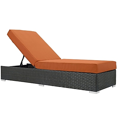 Modway Sojourn Outdoor Patio Chaise Lounge, Sunbrella Canvas Tuscan (EEI-1862-CHC-TUS)