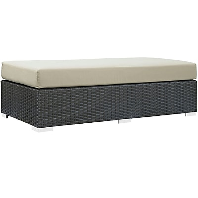 Modway Sojourn Outdoor Patio Rectangle Ottoman (EEI-1863-CHC-BEI)
