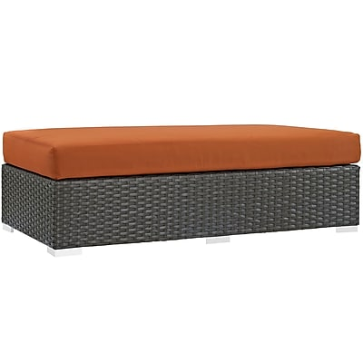 Modway Sojourn Outdoor Patio Rectangle Ottoman (EEI-1863-CHC-TUS)