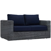 Modway Summon Outdoor Patio Loveseat (EEI-1865-GRY-NAV)