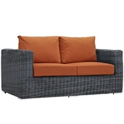 Modway Summon Outdoor Patio Loveseat, Sunbrella Canvas Tuscan (EEI-1865-GRY-TUS)