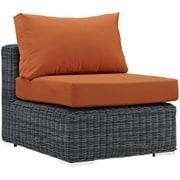 "Modway Summon 36""W Fabric Armless Chair, Subrella Canvas Tuscan (EEI-1868-GRY-TUS)"