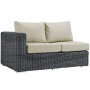 Modway Summon Outdoor Patio Left-Arm Loveseat (EEI-1872-GRY-BEI)