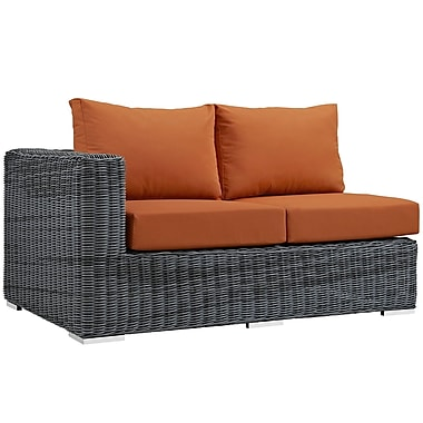 Modway Summon Outdoor Patio Left-Arm Loveseat (EEI-1872-GRY-TUS)
