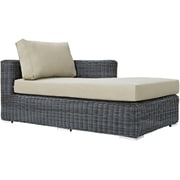 Modway Summon Outdoor Patio Right-Arm Chaise (EEI-1873-GRY-BEI)
