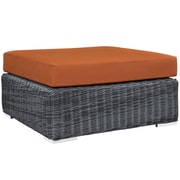 Modway Summon Outdoor Patio Square Ottoman (EEI-1875-GRY-TUS)