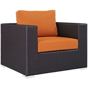 "Modway Convene 37.5""W Fabric Armchair, Orange (EEI-1906-EXP-ORA)"