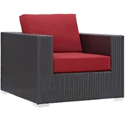 """Modway Convene 37.5"""" Fabric Armchair, Espresso Red (EEI-1906-EXP-RED)"""