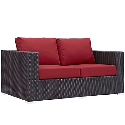 Modway Convene Outdoor Patio Loveseat (EEI-1907-EXP-RED)