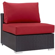 Modway Convene Fabric Armless Chair, Espresso Red (EEI-1910-EXP-RED)