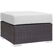Modway Convene Outdoor Patio Ottoman (EEI-1911-EXP-WHI)