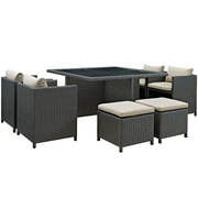 Modway Sojourn Outdoor Patio Dining Set (EEI-1946-CHC-BEI-SET)