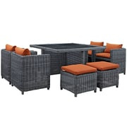 Modway Summon Outdoor Patio Dining Set (EEI-1947-GRY-TUS-SET)