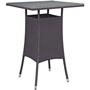 Modway Convene Outdoor Patio Bar Table, Espresso (EEI-1955-EXP)