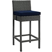 "Modway Sojourn 27.5""H Barstool with Sunbrella Canvas Upholstery, Navy (EEI-1957-CHC-NAV)"