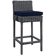 "Modway Summon 28"" Barstool with Sunbrella Canvas Upholstery, Navy (EEI-1960-GRY-NAV)"