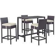 Modway Convene Outdoor Patio Pub Set (EEI-1964-EXP-BEI-SET)