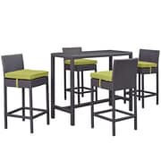 Modway Convene Outdoor Patio Pub Set, Espresso Peridot (EEI-1964-EXP-PER-SET)