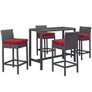 Modway Convene Outdoor Patio Pub Set (EEI-1964-EXP-RED-SET)