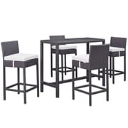 Modway Convene Outdoor Patio Pub Set, Espresso White (EEI-1964-EXP-WHI-SET)