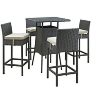 Modway Sojourn Outdoor Patio Pub Set (EEI-1967-CHC-BEI-SET)