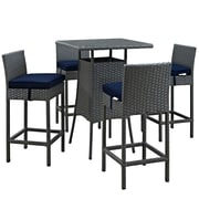 Modway Sojourn Outdoor Patio Pub Set (EEI-1967-CHC-NAV-SET)