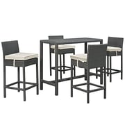 Modway Sojourn Outdoor Patio Pub Set (EEI-1968-CHC-BEI-SET)