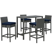 Modway Sojourn Outdoor Patio Pub Set (EEI-1968-CHC-NAV-SET)
