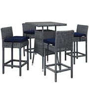 Modway Summon Outdoor Patio Pub Set (EEI-1971-GRY-NAV-SET)