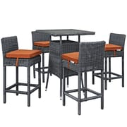 Modway Summon Outdoor Patio Pub Set, Sunbrella Canvas Tuscan (EEI-1971-GRY-TUS-SET)