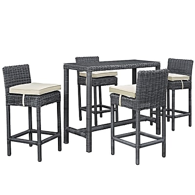 Modway Summon Outdoor Patio Pub Set (EEI-1972-GRY-BEI-SET)