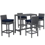 Modway Summon Outdoor Patio Pub Set, Sunbrella Canvas Navy (EEI-1972-GRY-NAV-SET)