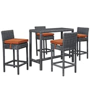 Modway Summon Outdoor Patio Pub Set (EEI-1972-GRY-TUS-SET)