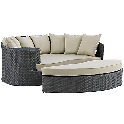 Modway Sojourn Outdoor Patio Daybed (EEI-1982-CHC-BEI)