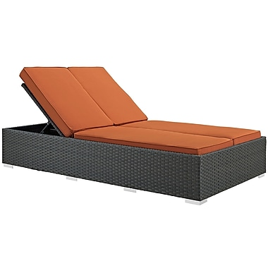 Modway Sojourn Outdoor Patio Chaise, Sunbrella Canvas Tuscan (EEI-1983-CHC-TUS)