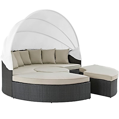 Modway Sojourn Outdoor Patio Daybed (EEI-1986-CHC-BEI-SET)