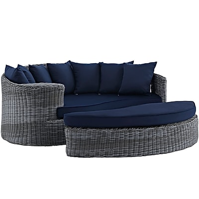 Modway Summon Outdoor Patio Daybed (EEI-1993-GRY-NAV)
