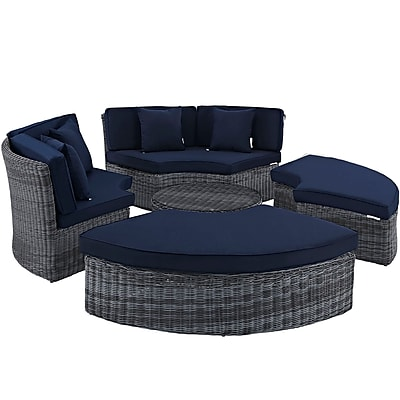 Modway Summon Outdoor Patio Daybed (EEI-1995-GRY-NAV-SET)