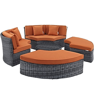 Modway Summon Outdoor Patio Daybed (EEI-1995-GRY-TUS-SET)