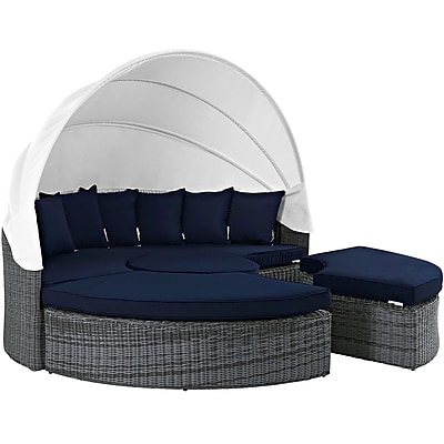 Modway Summon Outdoor Patio Daybed (EEI-1997-GRY-NAV-SET)