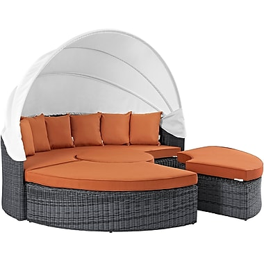 Modway Summon Outdoor Patio Daybed (EEI-1997-GRY-TUS-SET)