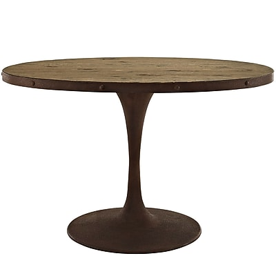 Modway 47'' Wood Top Dining Table, Brown (EEI-2009-BRN-SET)