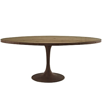 Modway 78'' Wood Top Dining Table, Brown (EEI-2010-BRN-SET)