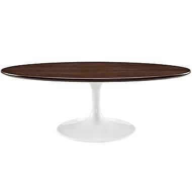 Modway Lippa Laminate Coffee Table, Walnut, Each (889654032182)