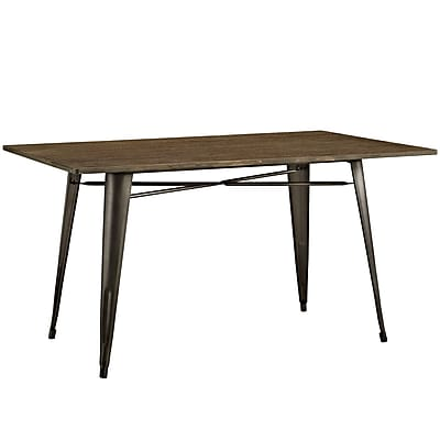 Modway 59'' Wood Dining Table, Brown (EEI-2034-BRN)