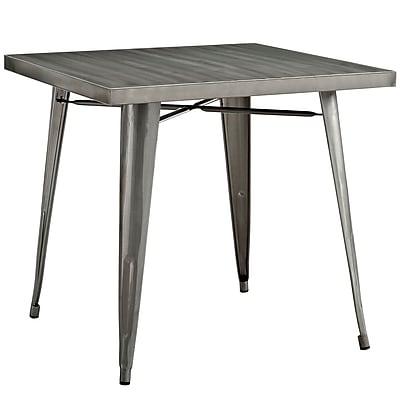 Modway 32'' Metal Dining Table, Gunmetal (EEI-2035-GME)