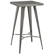 Modway 23.5''L Metal Dining Table, Gunmetal (EEI-2037-GME)